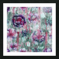 Multicolor Abstract Floral  Picture Frame print