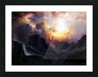 Dark Mountains Picture Frame print