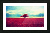 Red Tree Picture Frame print