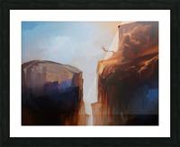 Sharp Cliffs Picture Frame print