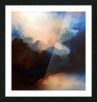 Sunset in the Mountains 25 Picture Frame print
