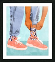 Pull Up Those Pretty Socks Picture Frame print