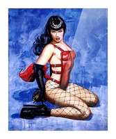 Bettie Page  Picture Frame print