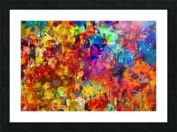 Autumn Leaves Abstract  Picture Frame print