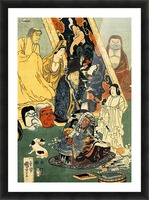 Sculptor Jingoro surrounded by statues Picture Frame print