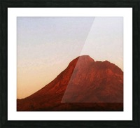 Red mountain side Picture Frame print