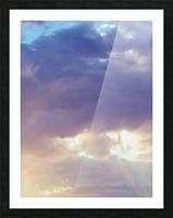 Beautiful cumullus Picture Frame print