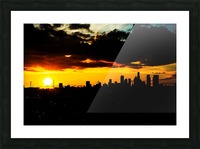 LA On fire Picture Frame print
