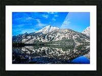 Teton reflection in Jenny lake Picture Frame print