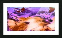 Daydreams - purplea white orange abstract swirls wall art Picture Frame print