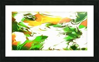 Legendary - green gold and white abstract swirls wall art Picture Frame print