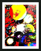 Clash of Worlds Picture Frame print