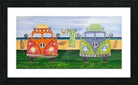 Hippy Van Holiday no.1 Picture Frame print