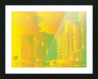 Abstract Building Minneapolis Skyline Picture Frame print