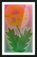 Abstract Dandelion Picture Frame print