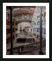 Abandoned Cinema Picture Frame print
