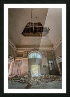 Abandoned Villa Decaying Picture Frame print