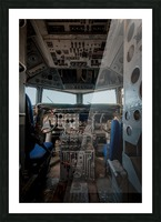 Abandoned Airplane Cockpit Picture Frame print