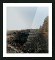 Abandoned Tank Graveyard w- Vines Picture Frame print