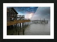 Lightning over Pier Picture Frame print