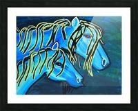 Blue Horse. Glenn N Picture Frame print