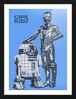C3PO & R2D2 Picture Frame print