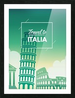 Travel to Italy Picture Frame print