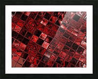 Red Glass Tiles 3 Picture Frame print