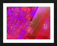 Red Psychedelic Squares 1 Picture Frame print