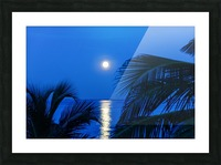 Moon rise at Cayman Kai Picture Frame print