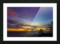 Colorful Caribbean Sky at Grand Cayman Picture Frame print