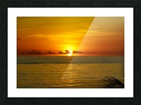 Sun rising on the ocean Picture Frame print