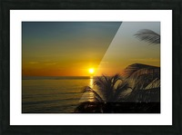 Caribbean Sunrise Picture Frame print