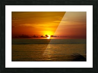 Sun rising on the Caribbean Picture Frame print
