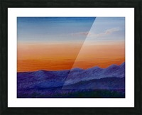 Sunset Picture Frame print