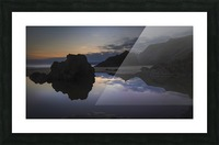 Rockpool reflections at sunset Picture Frame print