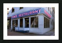 Toms Restaurant Picture Frame print