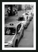 New York Taxis Picture Frame print