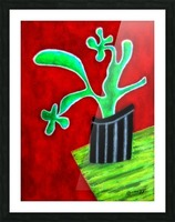 Cactus on Green Table Picture Frame print