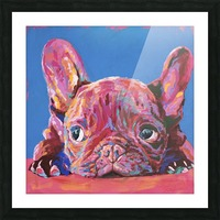 French Bulldog Picture Frame print