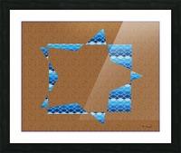 Compound Shapes Diamond Overlap Color 01 Picture Frame print