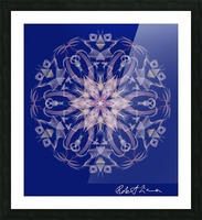 Limited Edition - Blue Graphic Art Healing Mandala 1005 Picture Frame print