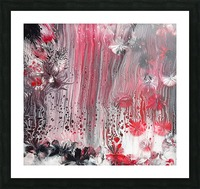 Red forest Picture Frame print