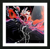 Hell garden Picture Frame print