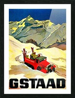 Vintage Travel - Gstaad Picture Frame print