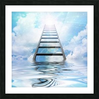 Ladder to the Sky Picture Frame print