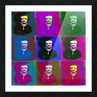 Edgar Allan Poe Pop Art Picture Frame print