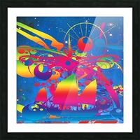 Star Ship Picture Frame print