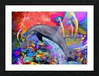 Dolphin Color Splash Picture Frame print