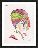A Woman of a Different Stripe Picture Frame print